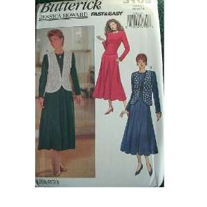 DRESS SIZES 12 14 16 BUTTERICK JESSICA HOWARD FAST & EASY PATTERN 3109