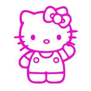 HELLO KITTY SAYING HELLO   6 HOT PINK   Vinyl Decal