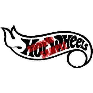 HOT WHEELS 13 LOGO WHITE DECAL STICKER VINYL Everything