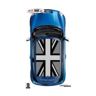 Mini Cooper Black Jack Flag Roof Graphic Kit 1 Automotive