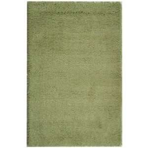 Handmade Lime Green Shag Area Rug, 4 Feet by 6 Feet