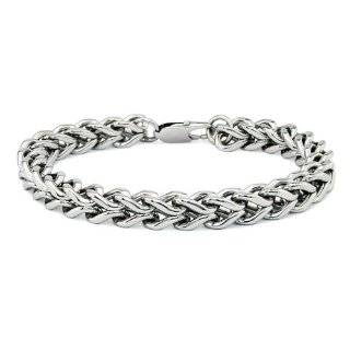 Mens Stainless Steel Curb Link ID Bracelet Jewelry