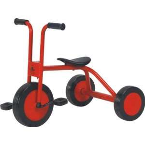 Pitwheeler Non flat Classic Old School Preschooler Tricycle, Red