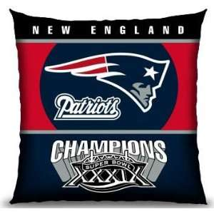 NFL Football New England Patriots 18X18 Toss Pillow   Fan Shop Sports