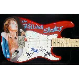 The Rolling Stones Autographed Signed Custom Guitar