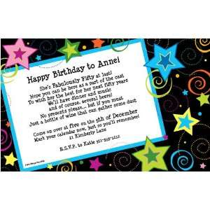 Birthday Party Invitations   Stars Invitation