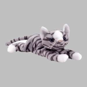 PRANCE THE CAT(GRAY&WHITE) RETIRED   BEANIE BABIES Toys & Games