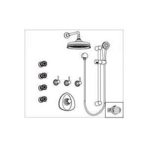Aqua Brass Universal Shower Kit with Diamond/Royale Handle KIT64 04572
