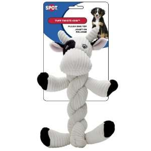 Ethical Tuff Twists Cow 9 Inch Squeaky Dog Toy