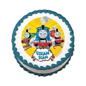 Thomas the Tank Engine Steam Team Edible Cake Image Birthday Party New