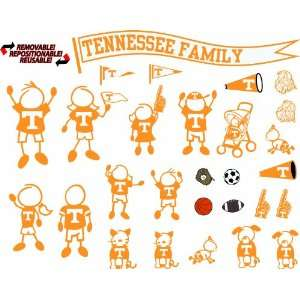 NCAA Tennessee Volunteers Decal Family