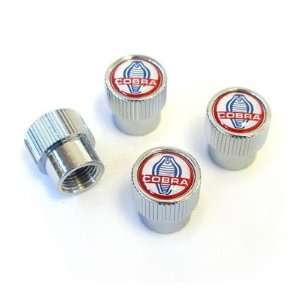 Ford Shelby Cobra Chrome Tire Stem Valve Caps Automotive