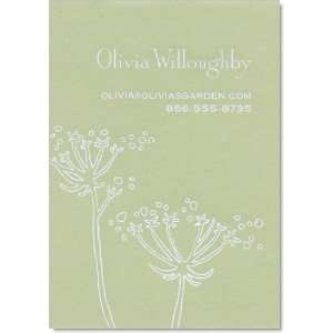 Queen Annes Lace Large Celery Green Calling Card