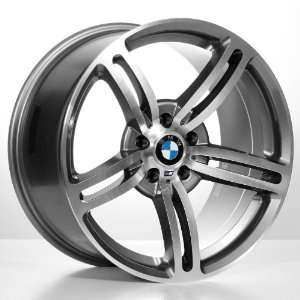 19 M6 Staggered Bmw Wheels & Tires Pkg   Gun Metal Grey