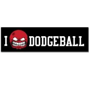 I Love Dodgeball Custom Customized Bumper Sticker