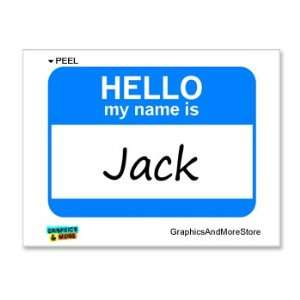 Hello My Name Is Jack   Window Bumper Laptop Sticker