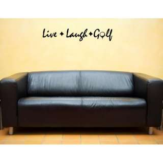 LIVE LAUGH GOLF Vinyl wall lettering stickers quotes and