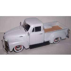 Scale Diecast Dub City 1953 Chevy Pickup in Color White Toys & Games