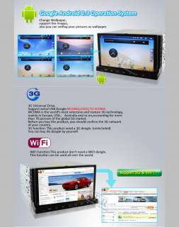 HD 7 2 Din In Dash Car DVD Radio Stereo Player WiFi 3G GPS+Tablet