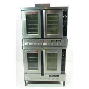 BLODGETT DFG 100 3 COMMERCIAL DOUBLE STACK CONVECTION RESTAURANT OVEN