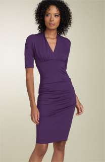 Nicole Miller Ruched Sheath Dress (Petite)