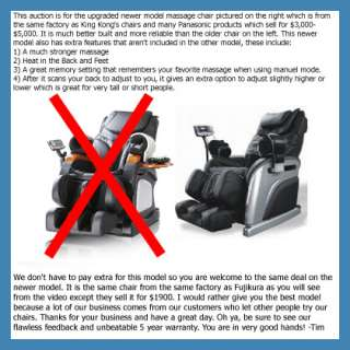 2012 NEW MD E05 Massage Chair Massager Black Leather et