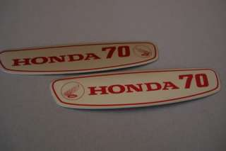 NOS HONDA C70 GAS TANK DECALS STICKERS